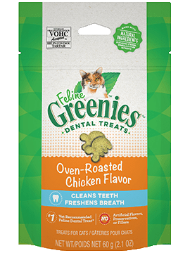 Greenies Feline Dental Oven Roasted Chicken Flavor Cat Treats