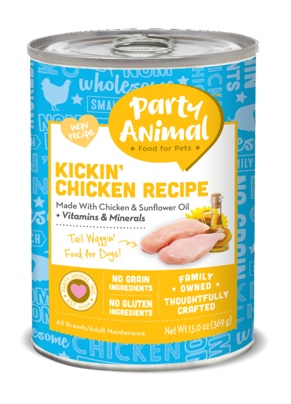 Party Animal Grain Free Kickin Chicken Recipe Canned Dog Food