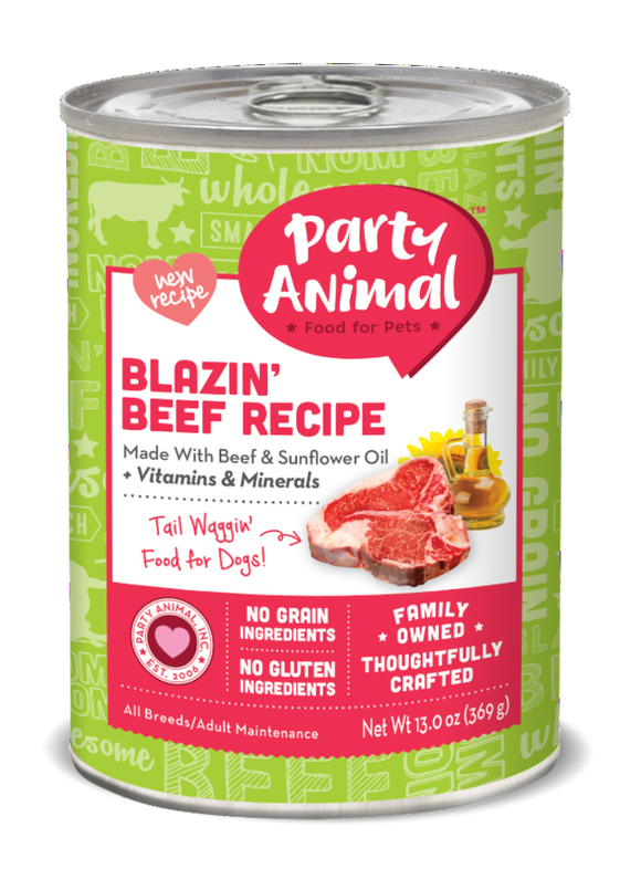 Party Animal Grain Free Blazin Beef Recipe Canned Dog Food
