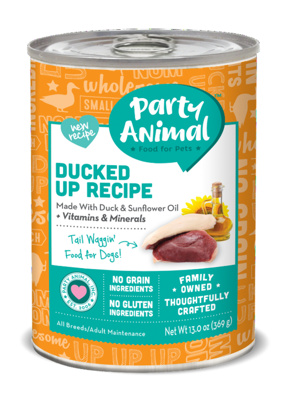 Party Animal Grain Free Ducked Up Recipe Canned Dog Food