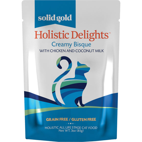 Solid Gold Grain Free Holistic Delights Chicken Creamy Bisque Cat Food Pouches