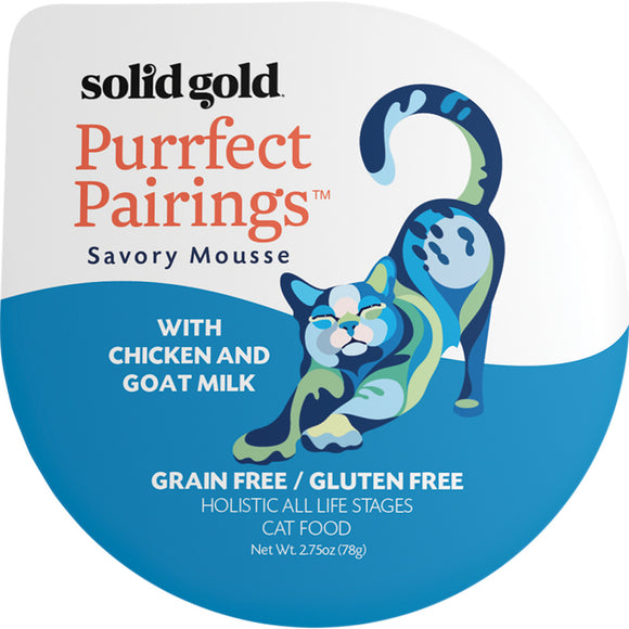 Solid Gold Grain Free Purrfect Pairings Chicken & Goat Milk Savory Mousse Cat Food Tray