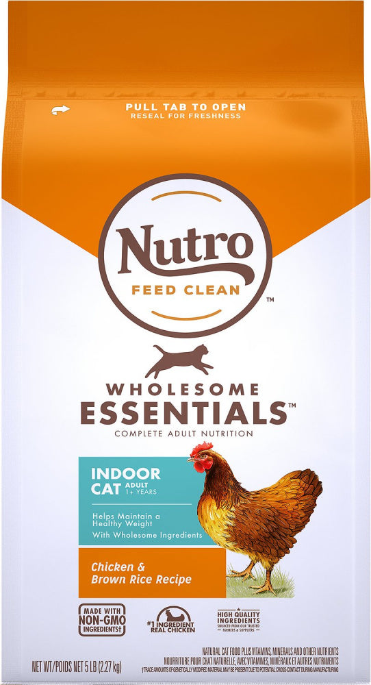 Nutro Wholesome Essentials Indoor Chicken and Brown Rice Recipe Adult  Dry Cat Food