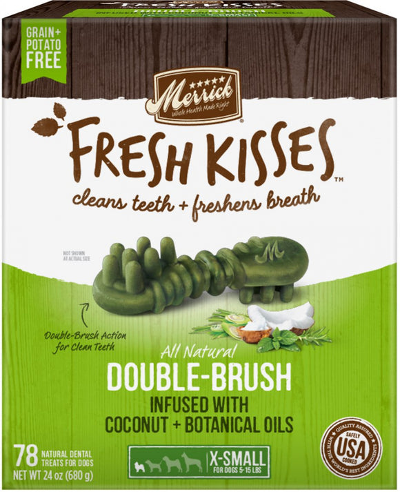 Merrick Fresh Kisses Grain Free Coconut Oil & Botanicals Extra Small Dog Treat Box