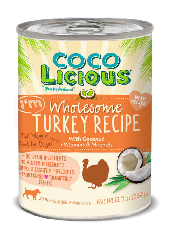 Party Animal Cocolicious Grain Free I'm Wholesome Turkey Recipe Canned Dog Food