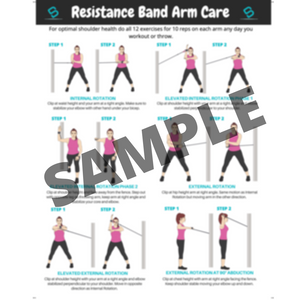 Softballa® Resistance Bands With Arm Care Program