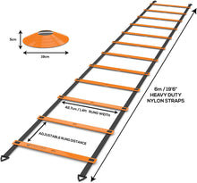 Load image into Gallery viewer, Softballa® Agility Ladder & 8 Cone Set