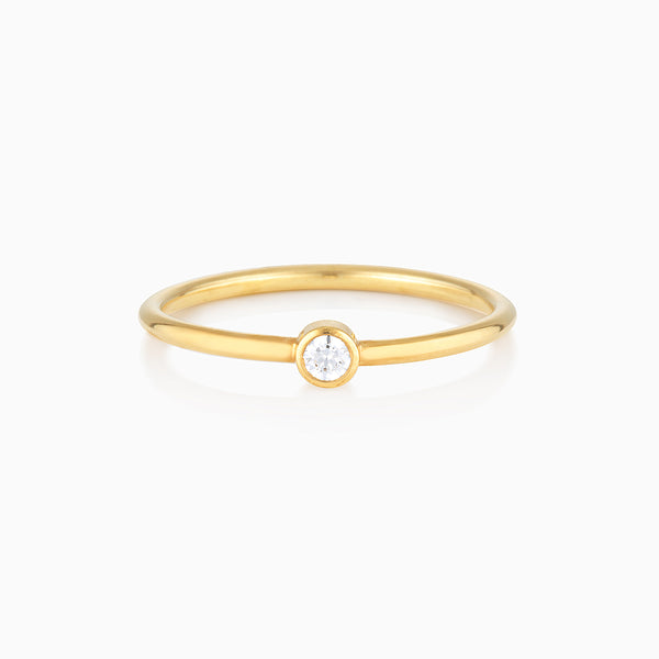 Minimalist Diamond Ring