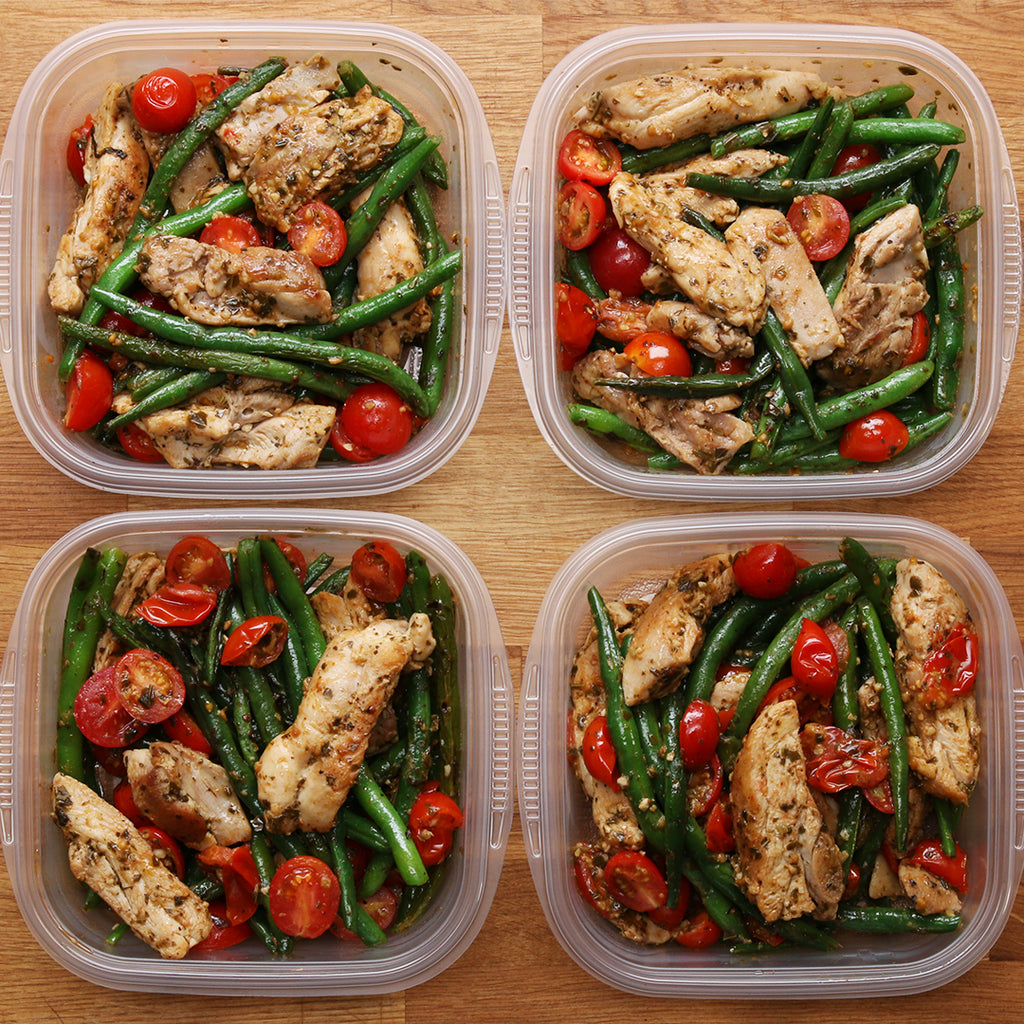 Meal Inspo: Pesto Chicken & Veggies