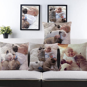 Canvas cushion cover w/ personalised image