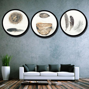 Customised round wall frame