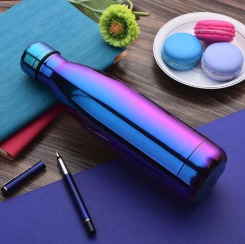 Brilliant Basics Colourful Double Wall Vacuum Thermos Water Bottle