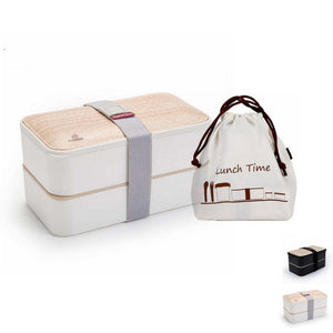Gourmet Series Two-Tier Natural Wood Meal Pack