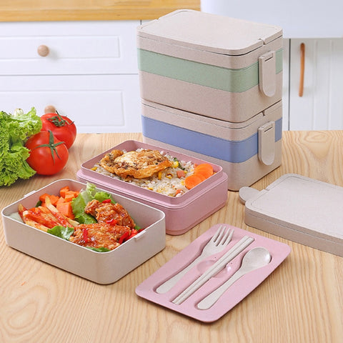 Wheat Straw Series Three-Tier Meal Pack