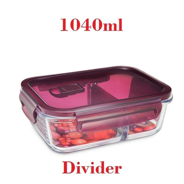 Gourmet Series Divided Glass Mealpack