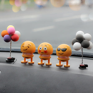 Emoji Car Expression Spring Doll