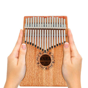 17 Keys Handcrafted Kalimba Instrument African Finger Thumb Piano