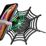 10W Qi Certified Anti-Slip Wireless Fast Charging Spider Pad for iPhone/Samsung