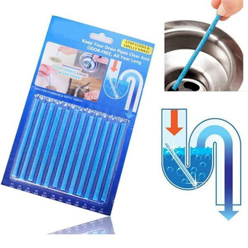 12 Pcs Decontamination Sticks Drain Cleaner As Seen on TV