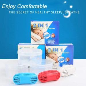 Anti Snoring and Air Purifier Snore Silencer Nose Clip Sleep Aid