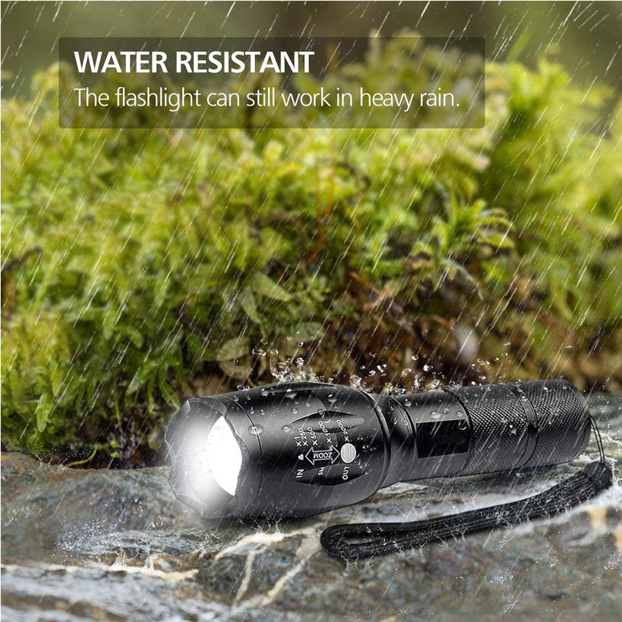 Waterproof Stretchable Tactical Flashlight with 5 Modes