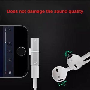 2 in 1 Dual Potrs Audio Headphone Splitter Cable for iPhone 7/7Plus/8/X