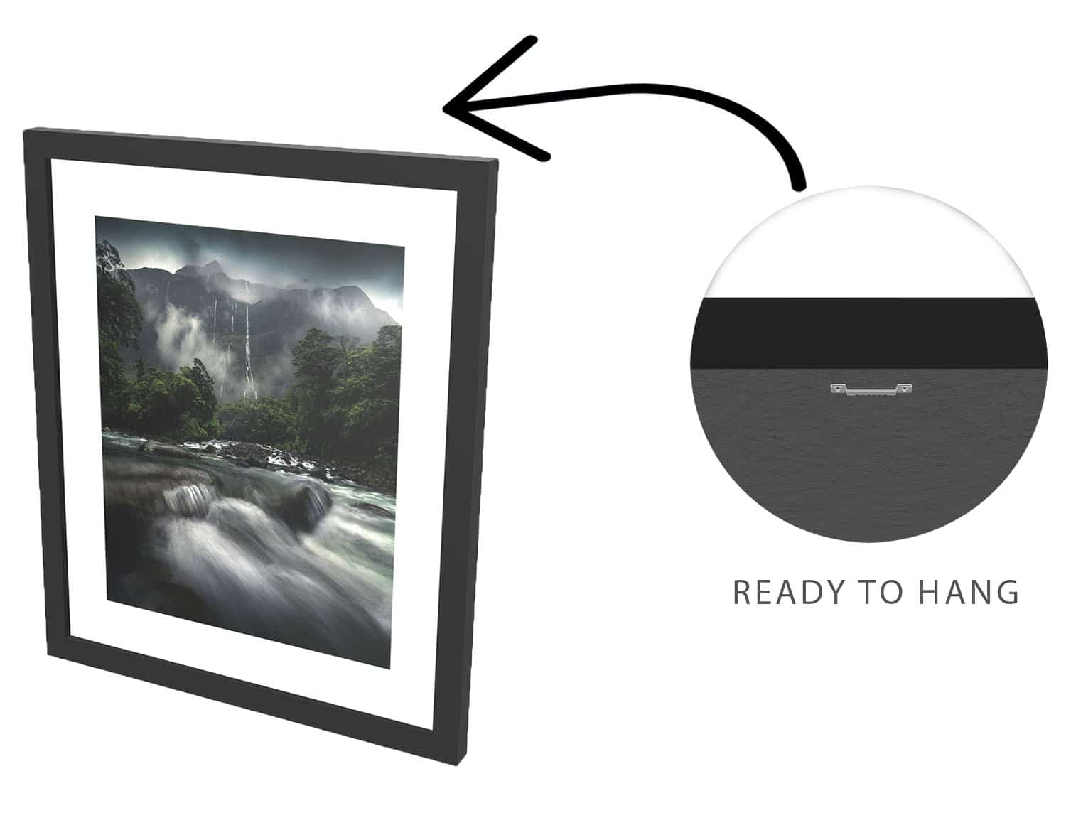 milford-sound-waterfall-framed-print-3d-view-