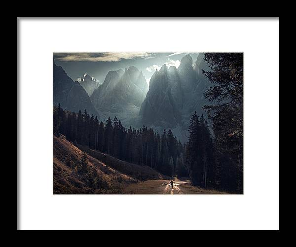 A Call From Above - Framed Print