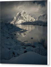 A Winter Day in Reine - Canvas Print