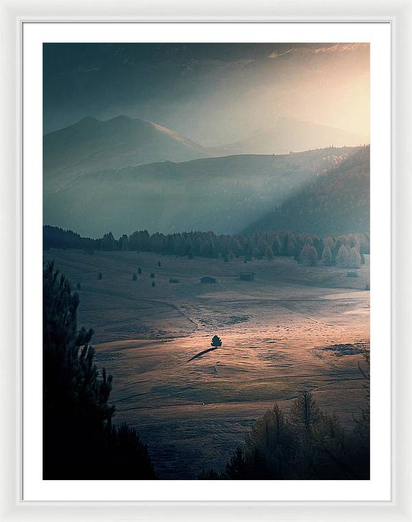Alone - Framed Print