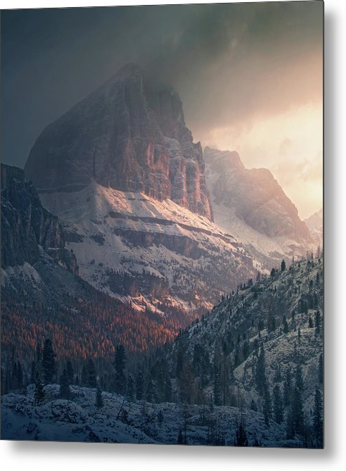 Cold and Warm Dolomites - Metal Print