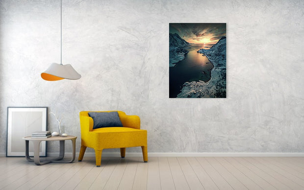 Cold Road to the Sun - Canvas Print