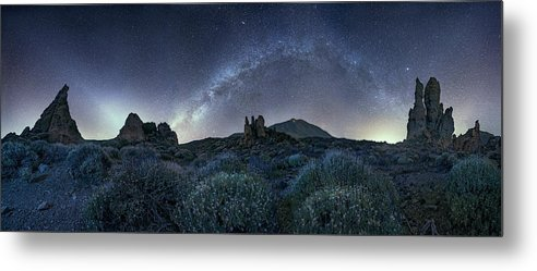 El Teide Night - Metal Print