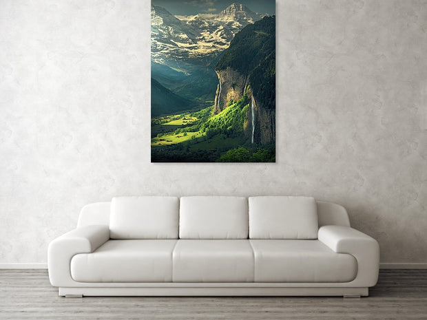 Lauterbrunnen Morning - Metal Print
