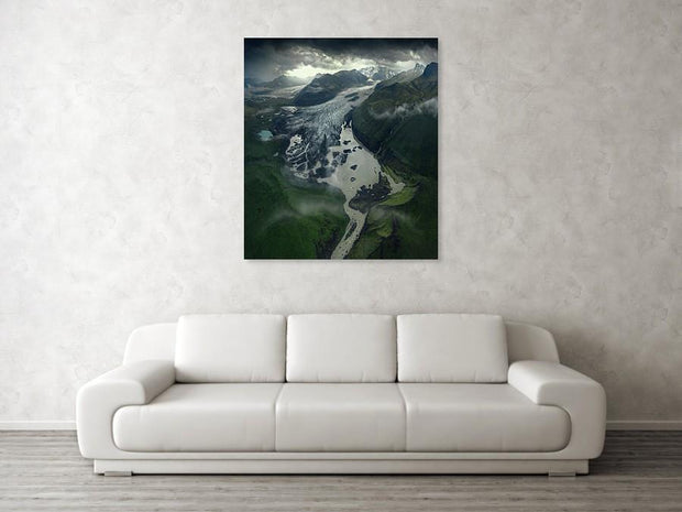 The Light On The End Of The Glacier - Canvas Print