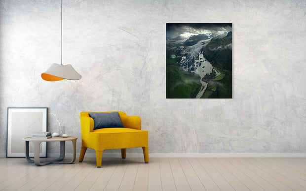 The Light On The End Of The Glacier - Art Print