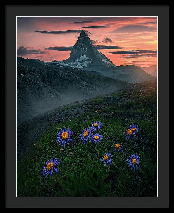 Matterhorn Sunset - Framed Print