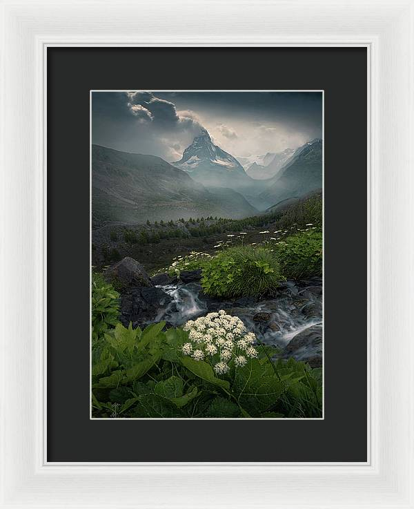Summer Afternoon in Zermat - Framed Print
