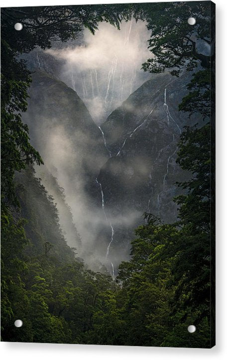 Tears from Milford Sound - Acrylic Print