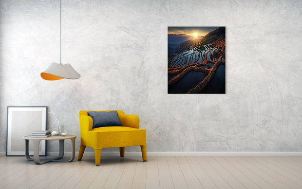 Terraces of China - Canvas Print