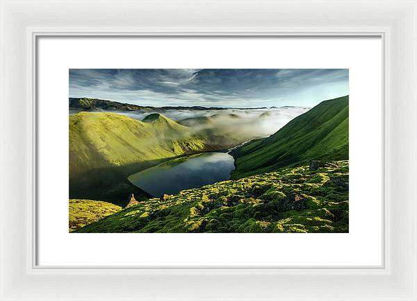 The Beginning or the End - Framed Print