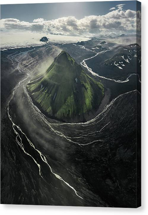 The Green Volcano - Canvas Print