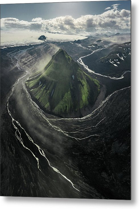 The Green Volcano - Metal Print