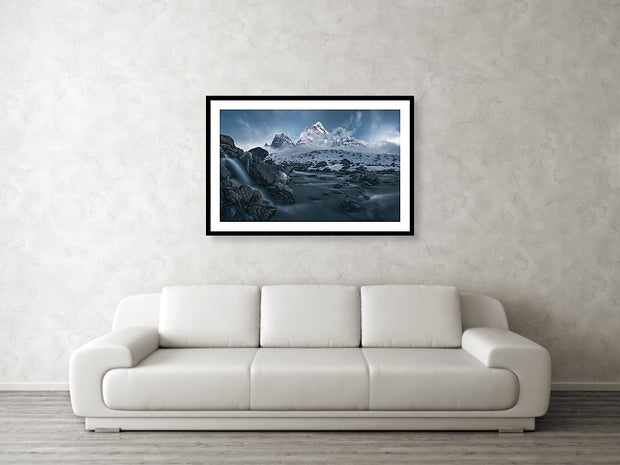 The Icy River - Framed Print