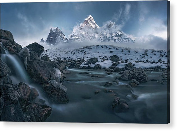The Icy River - Acrylic Print