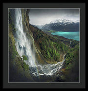 The Melting Spring - Framed Print