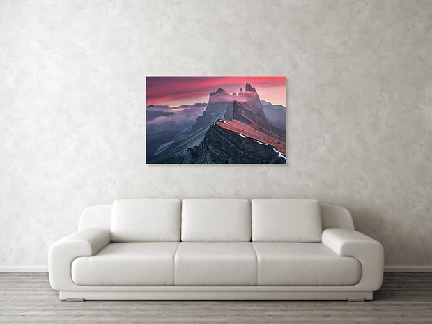The Red Barrier - Metal Print