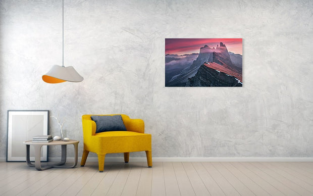 The Red Barrier - Canvas Print