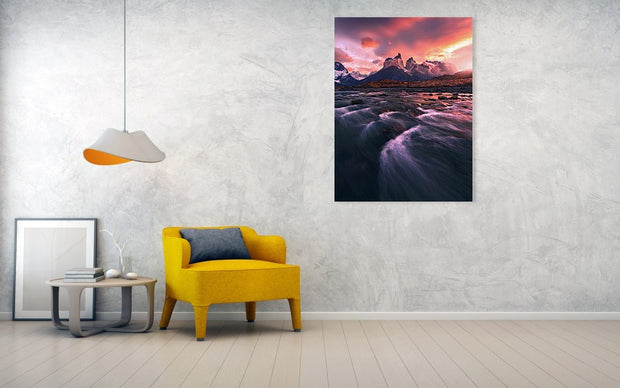 The Red Fire of Torres Del Paine - Art Print