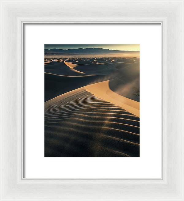 The Sand and the Wind - Framed Print